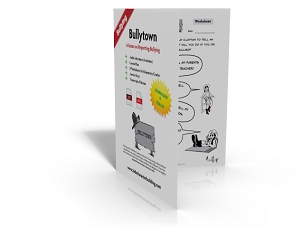Bullytown- A Lesson Plan, Audio & Worksheets on Reporting Bullying